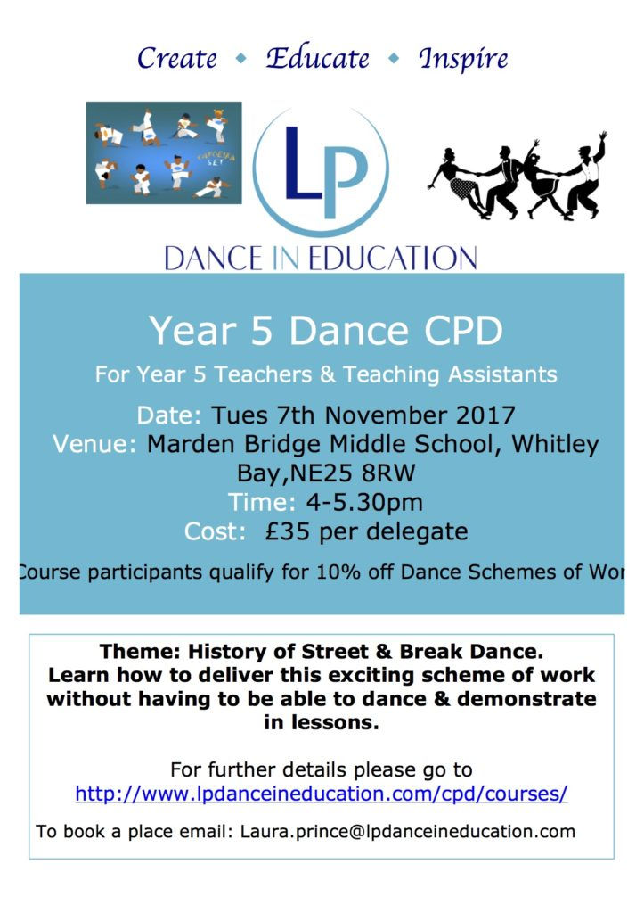 Year 5 Dance CPD Marden Bridge Nov 2017